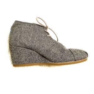 Toms | Herringbone Desert Wedge Ankle Bootie